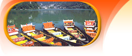 Docked Boats at Nainital Lake District