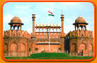 Flag of India at Red Fort, New Delhi
