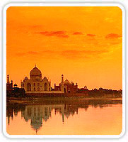 Taj Mahal at Sunset, Agra